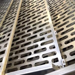 Custom Slot Capsule Hole Oblong Perforated Metal